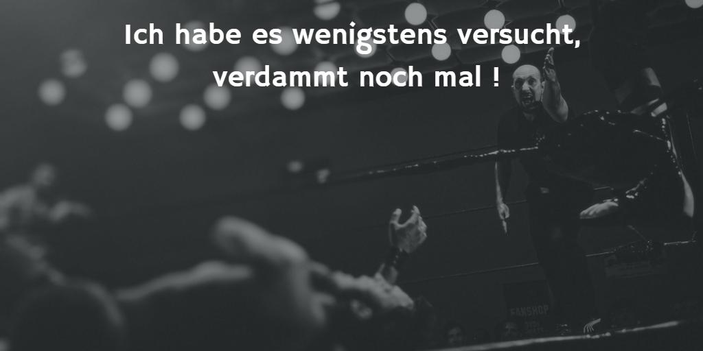 Bild mit Boxer im Ring am Boden